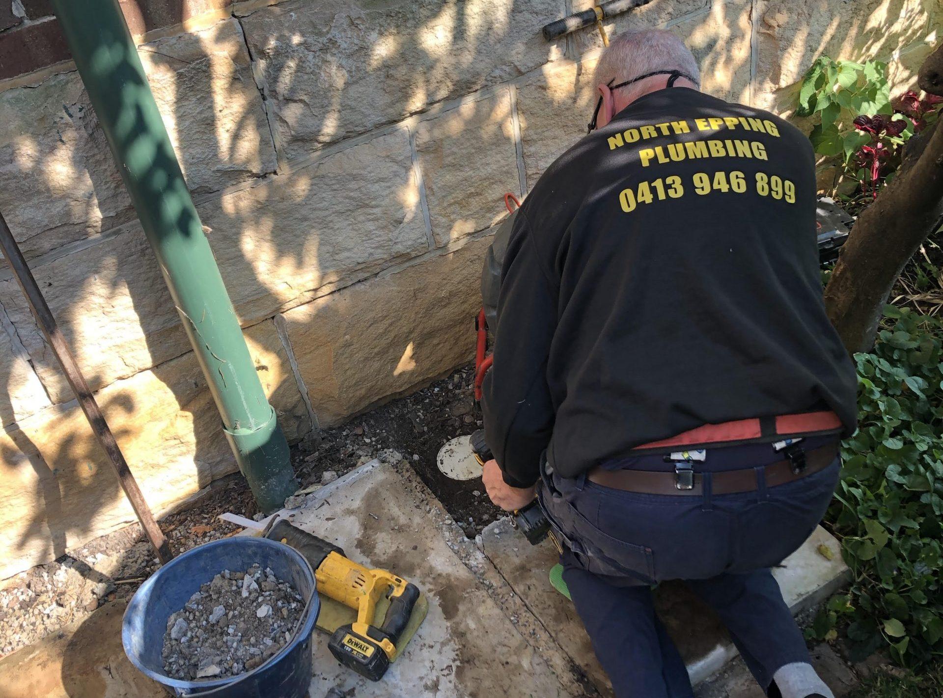 sewer inspection hidden under water tank